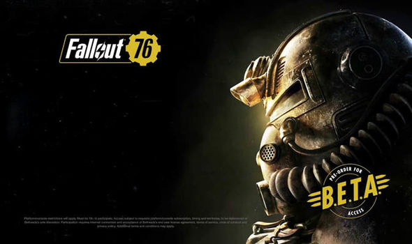 Teaser image for the upcoming Fallout 76 beta test, available to those who pre-order the game.