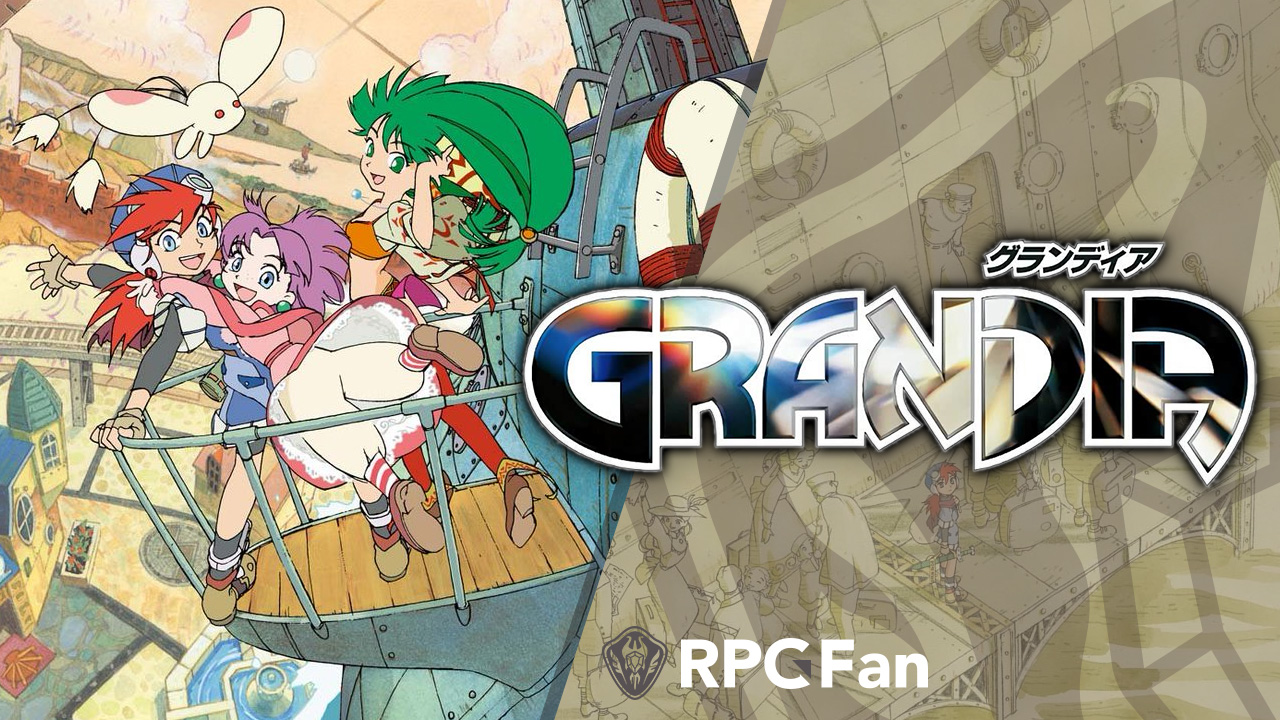 Grandia Screenshot: Sue and Feena and Justin on the deck!