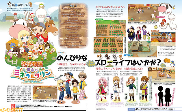 Harvest Moon Story Of Seasons Reunion In Mineral Town Nintendo Switch Remake Famitsu Screenshots
